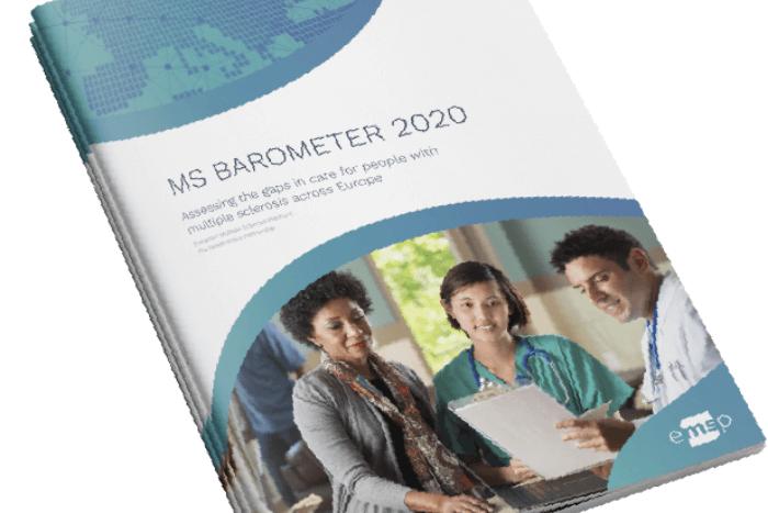 εξώφυλλο περιοδικού MSBarometer 2020 δύο γιατροί και μια πολίτης συνομιλούν
