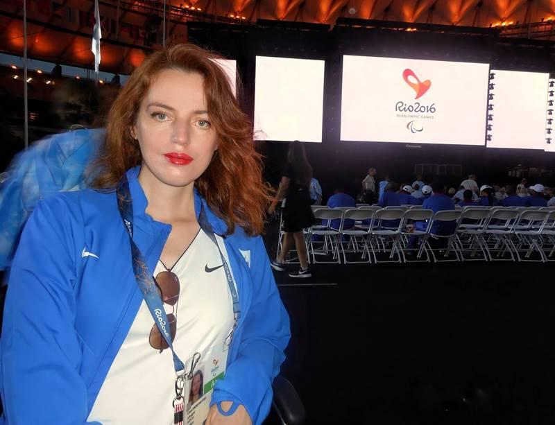 Η Χρυσή Μόρφη σε αίθουσα εκδήλωσης στους Παραολυμπιακούς Αγώνες του 2016 στο Ρίο