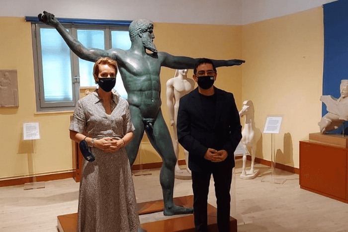 Ο Γιώργος Σταμάτης και η Αλεξάνδρα Σδούκου
