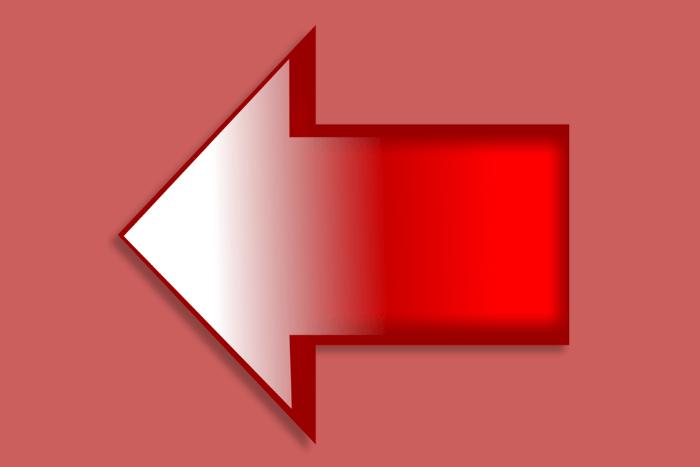 Κόκκινο βέλος που δείχνει προς τα αριστερά σε κόκκινο φόντο.
