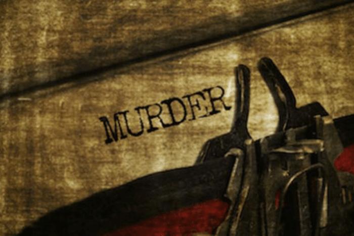 """Η Λέξη """"Murder"""" γραμμένη σε χαρτί στη γραφομηχανή"""