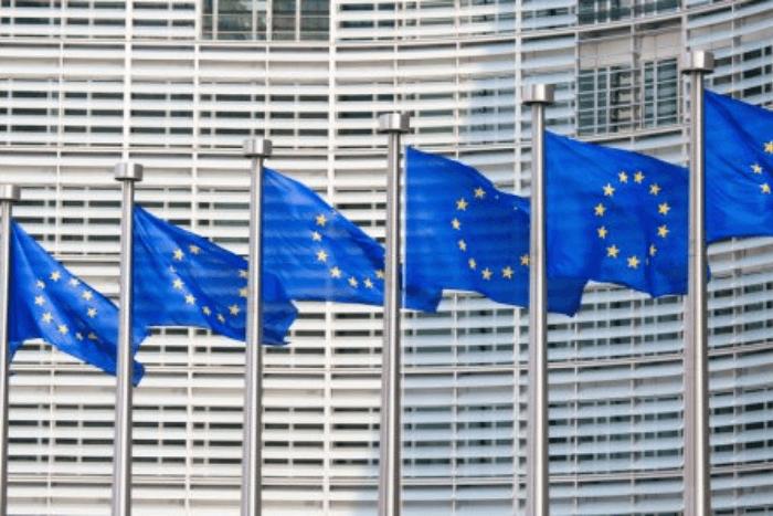 Σημαίες ευρωπαϊκής ένωσης στη σειρά στο ευρωπαϊκό κοινοβούλιο