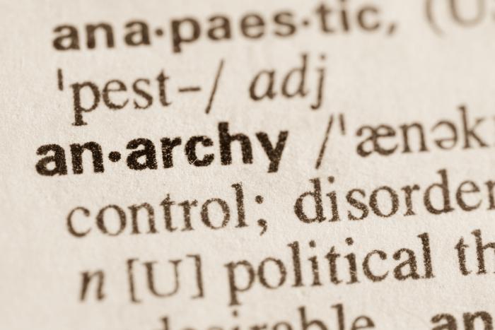 """Η λέξη """"an-archy"""" μέσα σε αγγλικό λεξικό"""