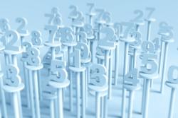 Διάφοροι διάσπαρτοι αριθμοί στηριγμένοι σε σταντάκια