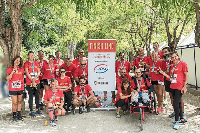 Ομαδική φωτογραφία: Οι συμμετέχοντες στον Ημιμαραθώνιο της Αθήνας.