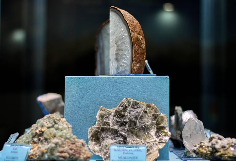 Κοντινό σε ορυκτά και πετρώματα Ολύμπου