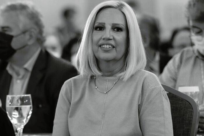 Ασπρόμαυρη φωτογραφία της Φώφης Γεννηματά