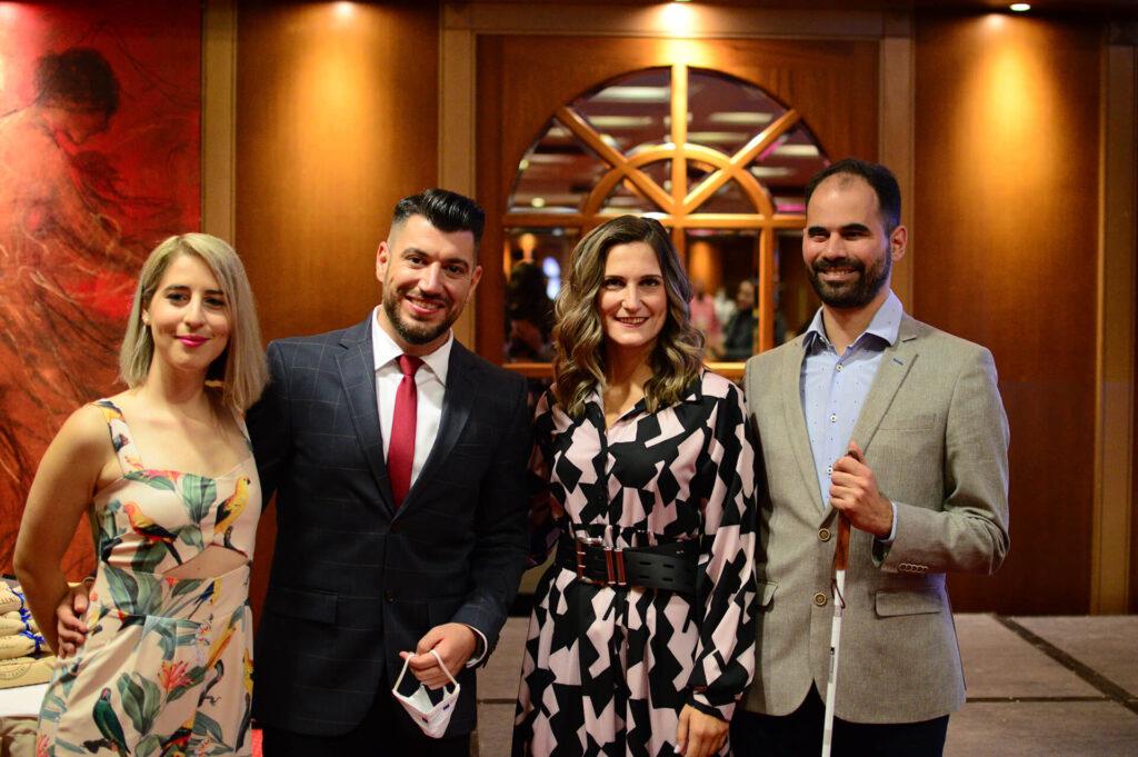 Από αριστερά Έλενα Τσαρτσαλίδη, Γιώργος Στάθης, Μανουέλλα Καγιοπούλου, Βαγγέλης Αυγουλάς