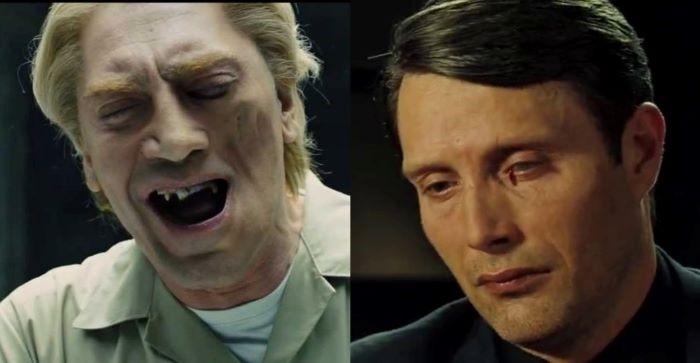 Ο Χαβιέ Μπαρδέμ με ειδική μασέλα λόγω προβλήματος στο σαγόνι, και στο Casino Royale ο «κακός» του Mads Mikkelsen φέρει ουλή στο μάτι και ενίοτε δακρύζει αίμα